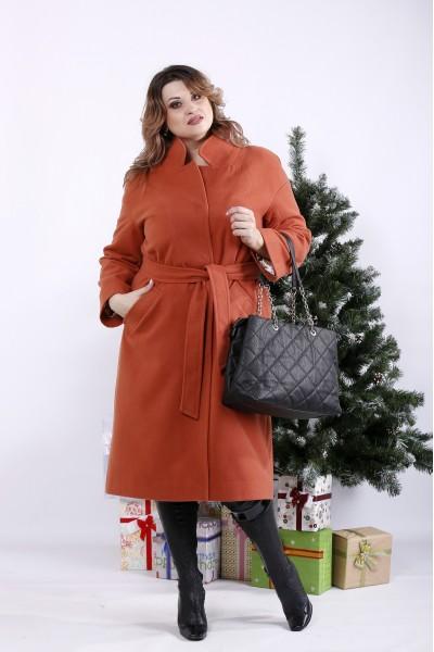 Фото Теракотове пальто (опція з утеплювачем до -10С) | t01268-5