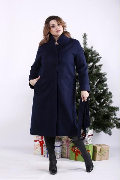 Фото Синє пальто (опціонально з утеплювачем до -10) | t01268-6