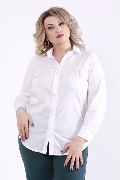 Фото Біла блузка з попліну | 01304-1