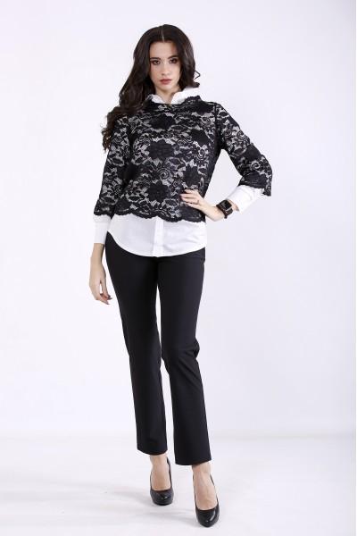 Фото Черный костюм (белая блузка отдельно) | 01344-1