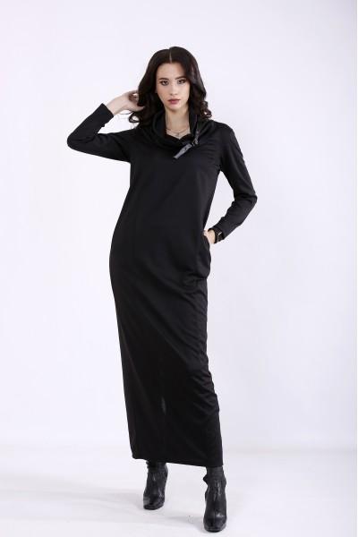 Фото Чорна сукня максі | 01345-1