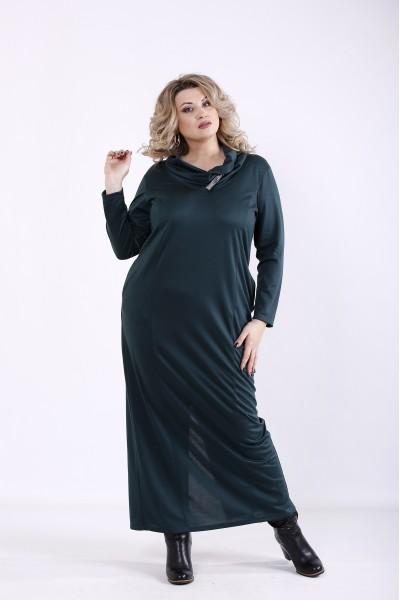 Фото Темно-зелене плаття | 01345-2