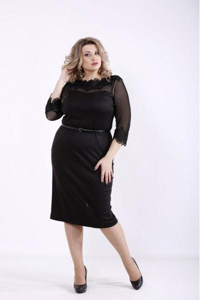 Фото Черное элегантное платье | 01348-1