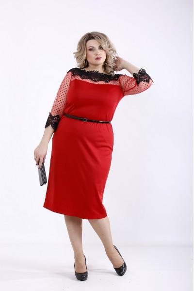 Фото Червоне яскраве плаття | 01348-3