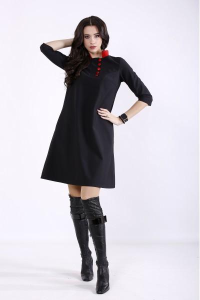 Фото Чорна сукня з николь | 01349-1