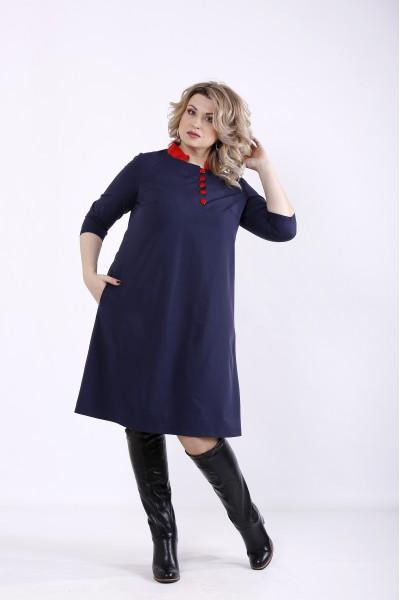 Фото Темно-синє плаття | 01349-2