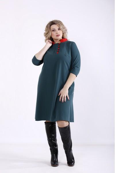 Фото Темно-зелене плаття | 01349-3