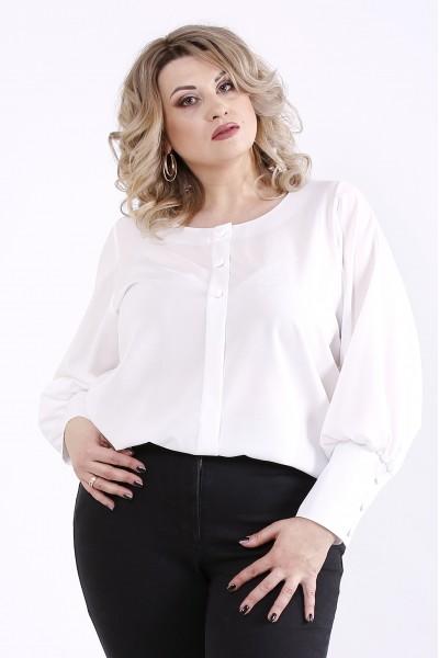 Фото Біла святкова блузка | 01350-2