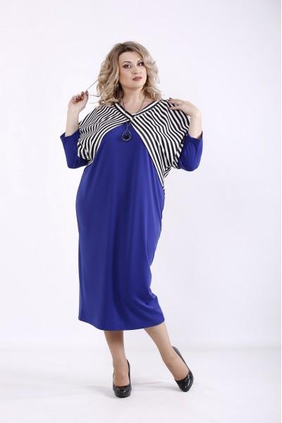 Фото Комплект: фіолетова сукня з накидкою | 01351-3