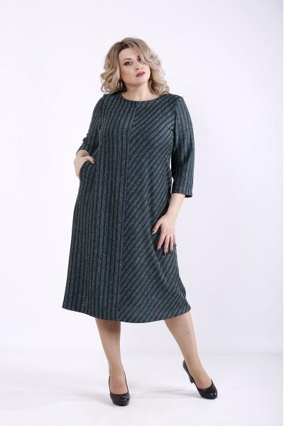 Фото Зелена сукня з ангори | 01355-2