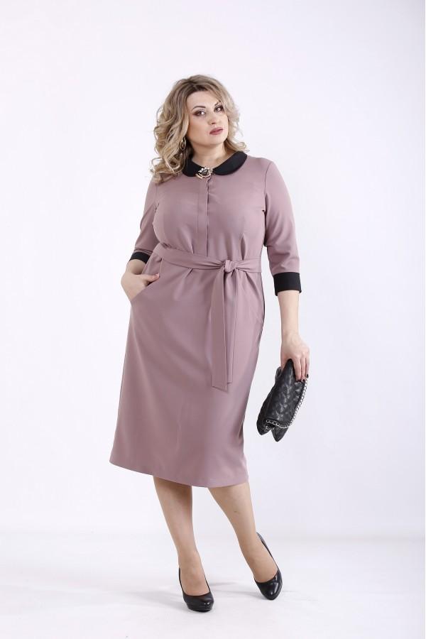 Фото Бисквитное платье с поясом | 01357-3