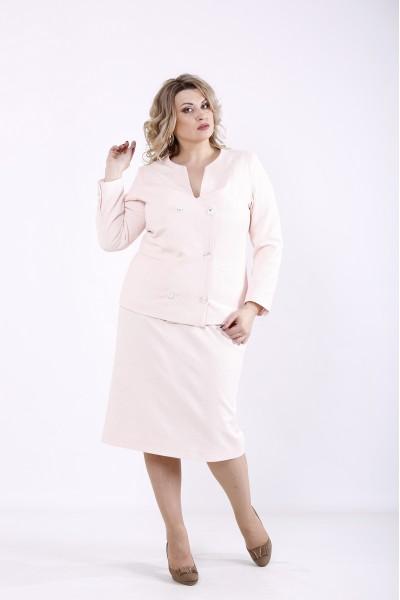 Фото Розовый деловой костюм | 01358-2