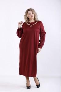 Фото Бордовое платье | 01361-1