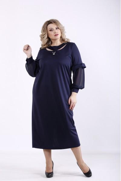 Фото Темно-синее платье | 01361-2