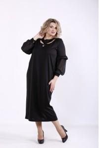 Фото Черное красивое платье   01361-3