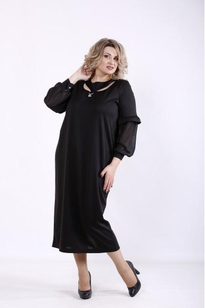 Фото Чорна гарна сукня | 01361-3