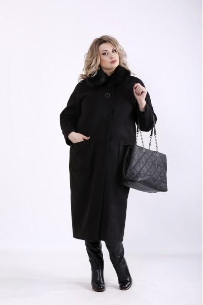 Фото Чорне кашемірове пальто (різні версії) | t01362-1