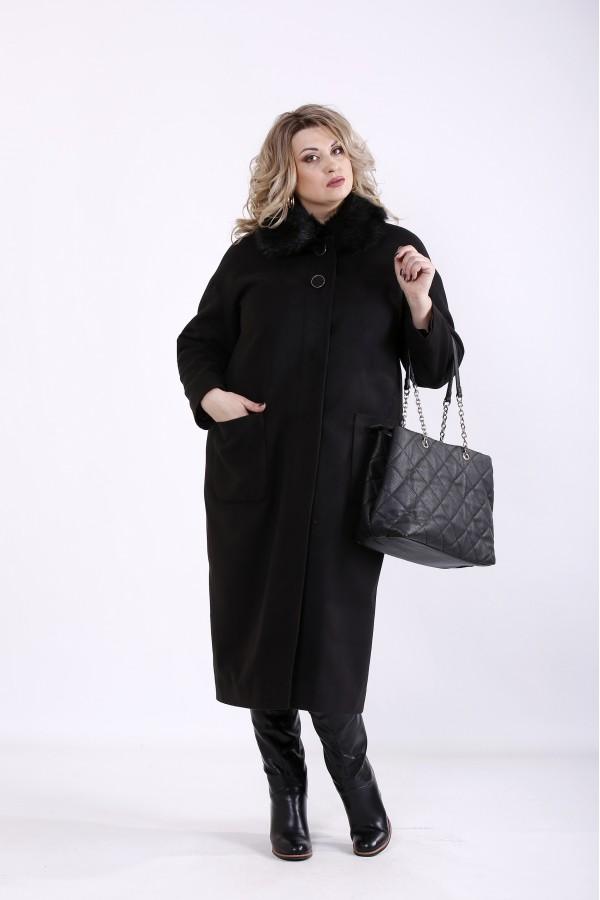 Фото Черное кашемировое пальто (разные версии) | t01362-1