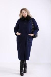 Фото Синее пальто из кашемира (разные версии)   t01362-2
