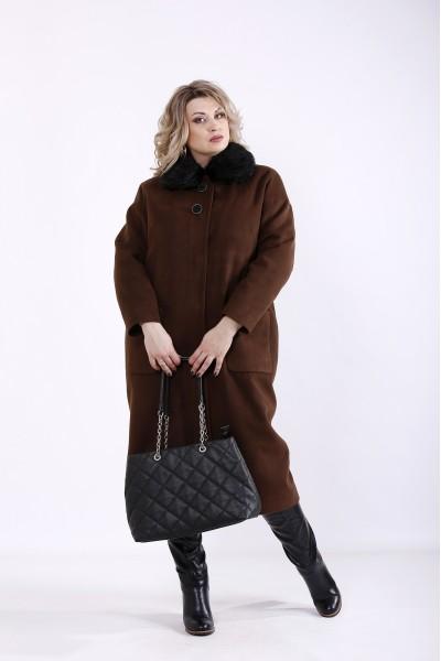 Фото Коричневе пальто з кашеміру (різні версії) | t01362-3