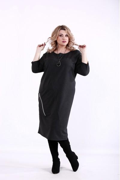 Фото Темно-серое платье | 01366-1