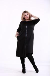 Черное асимметричное платье | 01370-1