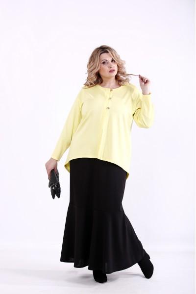 Фото Комплект: черное платье и желтый жакет   01373-1