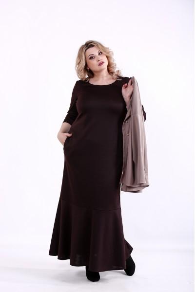 Фото Комплект: шоколадное платье и жакет   01373-3
