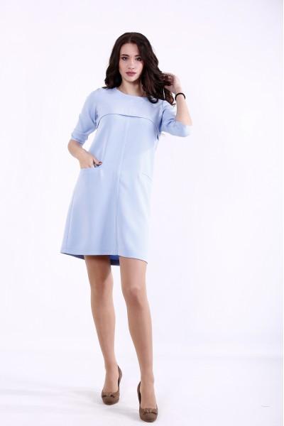 Фото Голубое короткое платье | 01375-1