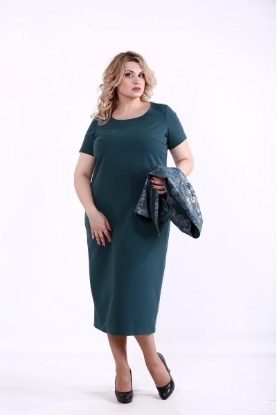 Фото Зеленый костюм: платье и жакет   01377-2