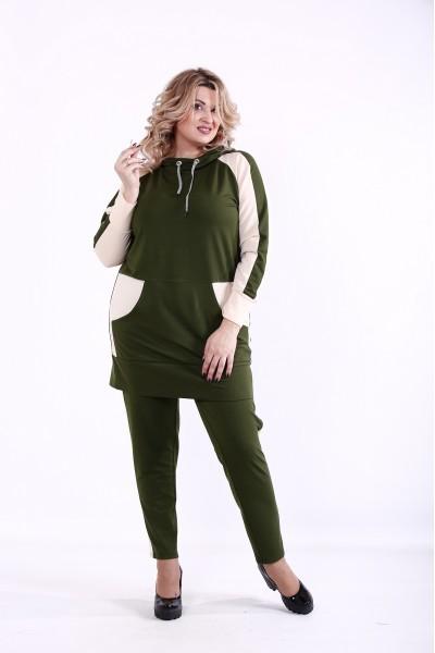 Фото Зелений спортивний костюм | 01380-3
