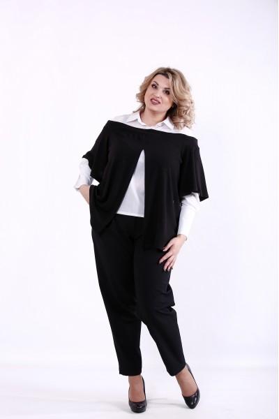Фото Черный костюм: блузка и брюки   01381-3