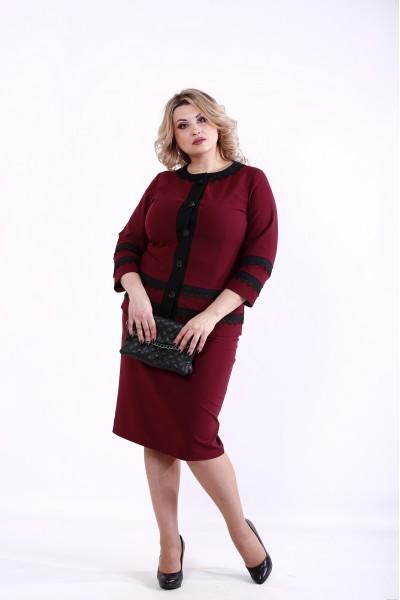 Фото Бордовый костюм | 01382-3