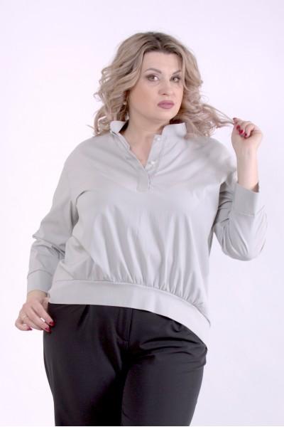 Фото сіра блузка | 01365-1