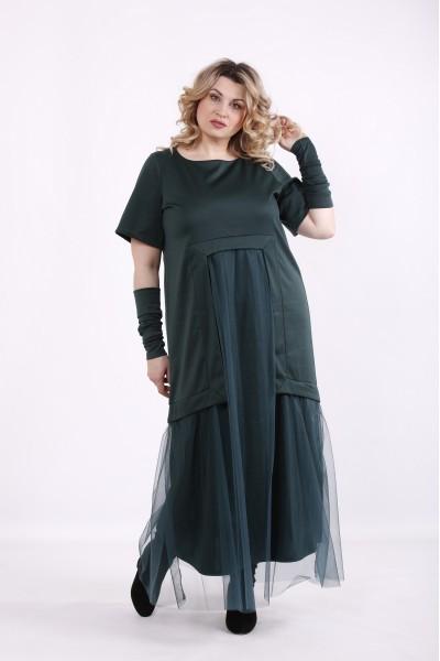 Фото Зеленое платье в пол | 01426-2
