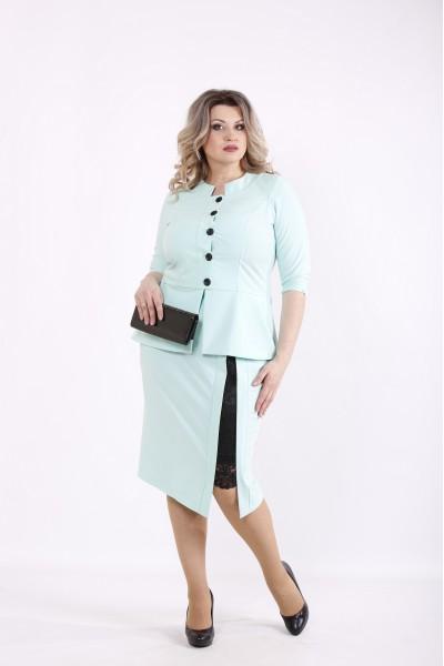 Фото Мятный костюм: блузка и юбка | 01430-1