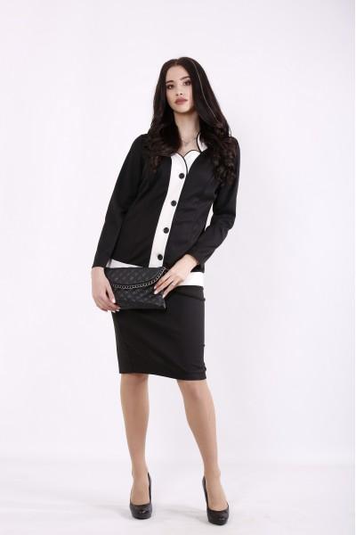 Фото Черный костюм: блузка и юбка | 01431-1