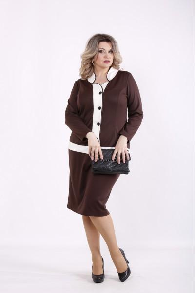Фото Шоколадный костюм: блузка и юбка | 01431-3