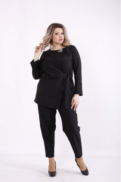Фото Костюм черный: блузка и брюки | 01433-2