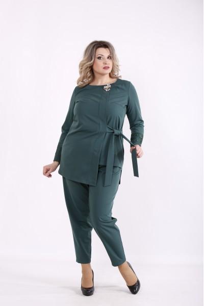 Фото Костюм зеленый: блузка и брюки | 01433-3