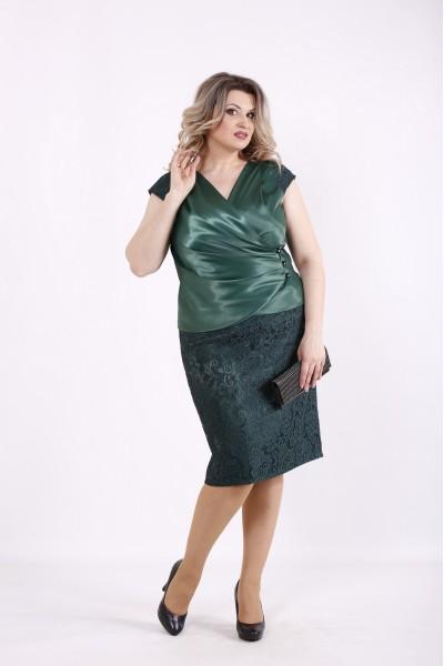 Фото Зеленый комплект: блузка и юбка | 01436-2