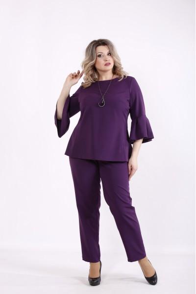 Фото Фиолетовый комплект: блузка и брюки | 01437-2