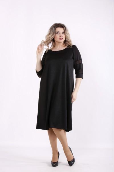 Фото Черное простое платье | 01440-1