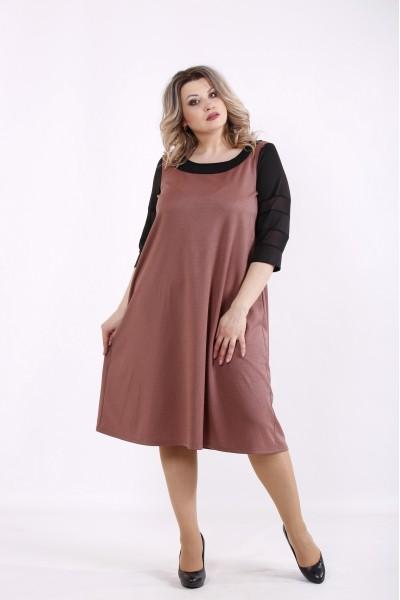 Фото Терракотовое платье | 01440-3