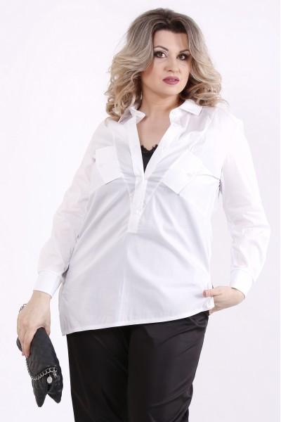 Фото Комплект: черная майка и белая блузка | 01448-2