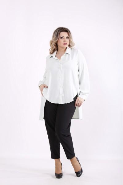 Фото Мятная блузка с длинной спинкой   01449-3