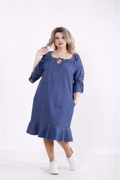 Фото Джинсовое синее платье | j01442-2
