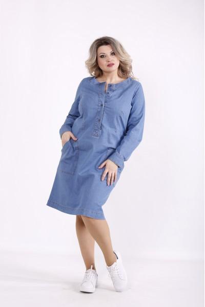 Фото Голубое джинсовое платье | j01443-1