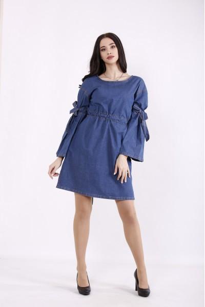 Фото Синее джинсовое платье-туника | j01446-2